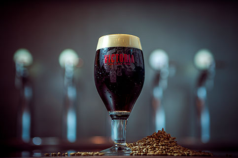 The new Victoria Negra may be tasted exclusively at the brewery